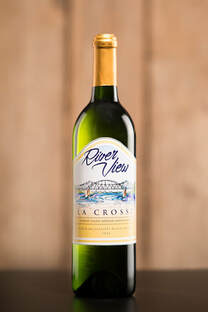 Bottle of white La Crosse wine