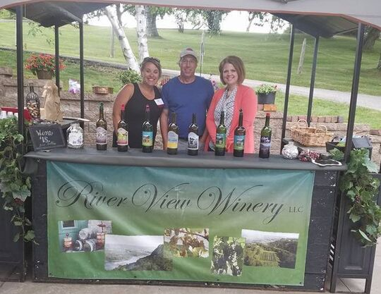 Friendly staff at River View Winery